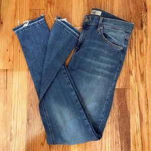 Topshop Stepped Hem Jamie Jeans